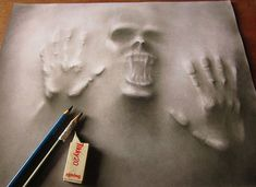 As assustadoras obras 3D de Jerameel Lu