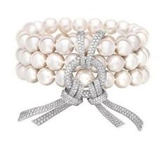Chanel Pearl & Diamond Bracelete