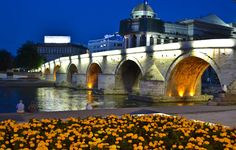 The Stone Bridge in Skopje, Republic of Macedonia Cheap European Cities, Macedonia Skopje, Visit Albania, Republic Of Macedonia, Places Of Interest, Moldova, Countries Of The World, Cool Places To Visit, Trip Advisor