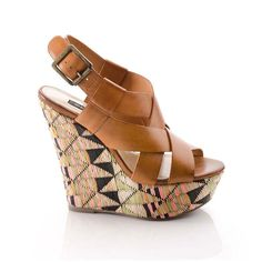 Diane Wedge Tribal Cognac