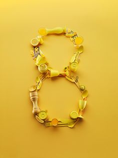 Yellow number eight