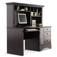 Harbourview Computer Desk With Hutch