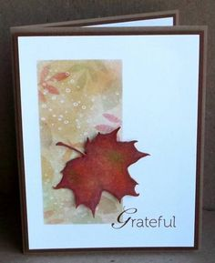 CAS188 Grateful by tessaduck - Cards and Paper Crafts at Splitcoaststampers