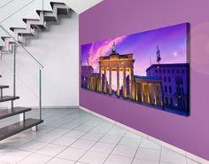 #Leinwandbild Das ist Berlin! Panorama #Wandgestaltung #in #Pastelltönen #pastellig #pastellkombi #pastell