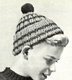 Vintage toque knitted pattern 1950 pattern by WeddingsBabiesHome, $2.50