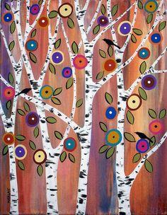 Birds & Birches by karlagerard, via Flickr