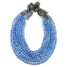 Coppola e Toppo unique multi row necklace, with dynamic clasp/sidepiece., 1950s…