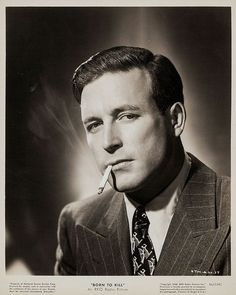 Laurence Tierney in the film noir, Born to Kill. Old Hollywood Stars, Hollywood Actor, Golden Age Of Hollywood, Classic Hollywood, Hollywood Glamour, Tv Actors, Actors & Actresses, Lawrence Tierney, Classic Film Noir