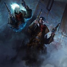 This is a bit like the modern grim reaper who chose guns instead of an outdated sythe. Character Inspiration, Character Art, Character Design, Darksiders Horsemen, Magic The Gathering Sets, Westerns, Mystical World, Fantasy Places, Epic Art