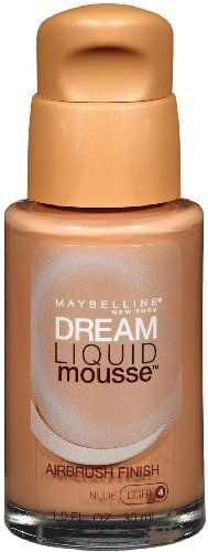 Maybelline Dream Liquid Mousse Airbrush Foundation Nude Light 4 1 oz * Check out the image by visiting the link. (Note:Amazon affiliate link)