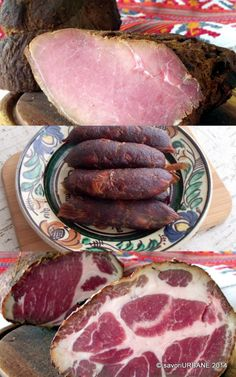 Charcuterie, Sausage Recipes, Cooking Recipes, Romania Food, My Favorite Food, Favorite Recipes, Polish Recipes, Smoking Meat, Diy Food