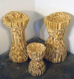 Formed Bamboo Stool Set by TARstudios on Etsy