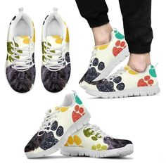 Luto Home West Highland White Terrier Black Dots Print Running Shoes Kids-Casual Comfortable Sneakers Running Shoes