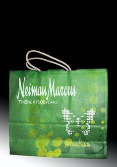 Shopping bag I designed for Neiman Marcus' Anniversary Department Store, Neiman Marcus, Shopping Bag, My Design, Anniversary, Signs, Shop Signs, Sign