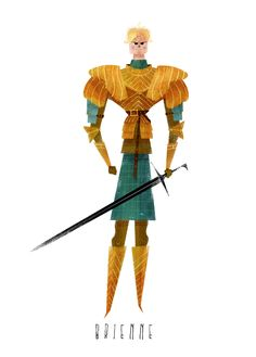 Another GoT piece this time Brienne of Tarth! Game Of Thrones Facts, Game Of Thrones Quotes, Game Of Thrones Funny, Character Design Animation, Character Art, Character Inspiration, Detective, Roi Arthur, Brienne Of Tarth