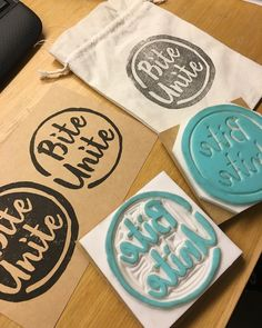 Our handmade stamp is ready!!! Thank you bymamalaterre