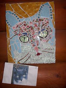 CUSTOM MOSAIC of YOUR * CAT * DOG * HORSE * BIRD PET PORTRAIT MEMORIAL WALL ART ~ lab20 seller id ebay