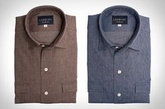 Ledbury Callan shirts look like perfect edition for this falls wardrobe. Pair it with The Shoreditch or The Gandy Dancer to dress it up a bit.