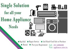 Call 011-68006800 for buy, sell, rent, repair & service of home appliances, kitchen, electrical and electronics appliances