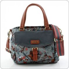 Oilily Tasche Sea of Flowers - S Handbag - Rock