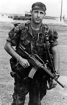 MACV-SOG One-Zero team leader Kenneth Bowra, 1971 ~ Vietnam War Soldier carries an XM177-E1