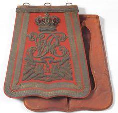 Sabretache per ufficiale del 4 rgt. ussari Inglese
