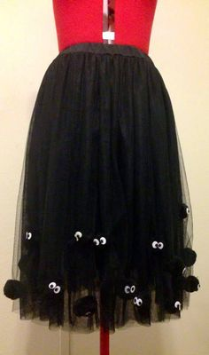 Soot Sprite Tulle Skirt by Dustbunny by DBCosplay on Etsy Cosplay Tutorial, Cosplay Diy, Anime Cosplay, Cosplay Ideas, Totoro Dress, Totoro Costume, Diy Costumes, Halloween Costumes, Halloween Stuff