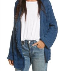 Shop Women's Free People Blue size XS Cardigans at a discounted price at Poshmark. Description: Color: Sapphire Blue  Cozy knit cardi featuring an open design with a frayed trim. Rolled sleeve cuffs Easy, slouchy fit 4% Nylon, 62% Silk, 34% Cotton. Sold by rrobin391. Fast delivery, full service customer support.