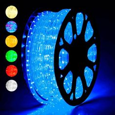 DELight® Outdoor Lighting LED Rope Light 150ft Color Opt - TheLAShop.com Strip Lighting, Outdoor Lighting, Lighting Ideas, Bad Room Ideas, Pc Gaming Setup, Cute Bedroom Decor, Led Rope Lights, Electric Bicycle, Luz Led