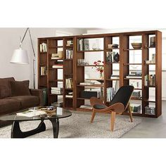 Image result for bookshelves as room dividers ideas