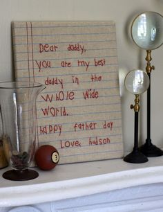 Stitched Note...what a great fathers day gift..or Christmas gift for grandparents!