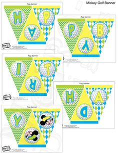 Mickey Mouse Golf Banner Digital File PRINTABLE DIY by MetroEvents, $5.98