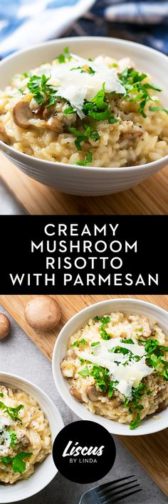 Creamy Mushroom Risotto with Parmesan