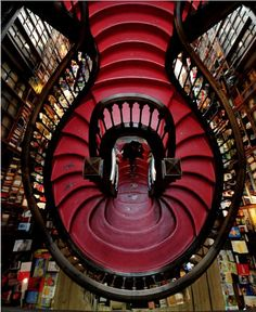 Livraria Lello; Porto, Portugal 1906; Xavier Esteves, Architect This is a bookstore (named one of the three best in the world). The bookstore's architecture and interior design are a stunning example of retail. The facade is an excellent neo-gothic design...