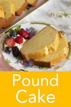 This rich and moist pound cake has big notes of butter and vanilla. It's an … This rich and moist pound cake has big notes of butter and vanilla. It's an easy to make cake that melts in your mouth and will bring a smile to your face. Great Desserts, Delicious Desserts, Dessert Recipes, Dinner Recipes, Best Cake Recipes, Pound Cake Recipes, Favorite Recipes, Lemon Pudding Cake, Sugar Cake