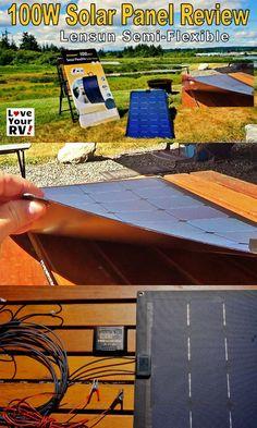 Review of the Lensun semi flexible solar panel ki by the Love Your RV blog - http://www.loveyourrv.com/lensun-flexible-solar-panel-review/ #solar #boondocking