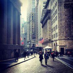Los alrededores de la New York Stock Exchange ahora mismo!!!  25/11/14