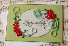Beautiful Paper Quilled Birthday Greeting Card on Etsy, $5.00