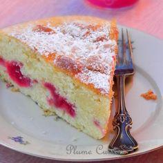 Gâteau-crème-fraîche-et-framboises