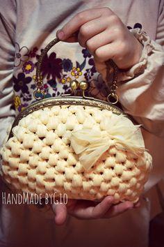 Vintage clutch con manico clic clac by HandMadebyGio on Etsy