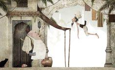 En 'Sabedoria do Califa' (Editora Ática), Ilan Brenman (texto) e Iban Barrenetxea (ilustraciones), recuperan un cuento de la tradición oral árabe.