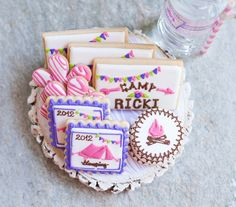 glam camping birthday party amazing cookies