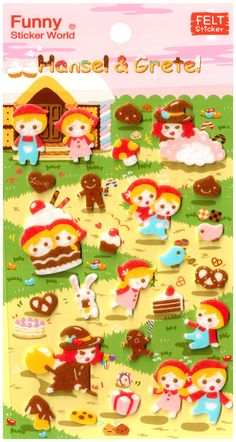 Funny Sticker World Hansel & Gretel Felt Sticker Sheet