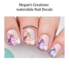 These decals can be applied to any type of nails (regular polish, soak off gel, hard gel and acrylic). You will receive 20 nail decals and full nail instruction in a resealable bag. Giraffe Nails, Holiday Nail Art, Types Of Nails, Soak Off Gel, Nail Decals, Nailart, Love Nails, Wedding Nails, Nail Colors
