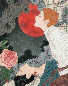 Japan Illustration, Arte Horror, Horror Art, Kunst Inspo, Art Inspo, Fantasy Kunst, Fantasy Art, Pretty Art, Cute Art