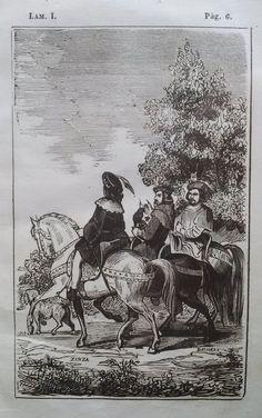 El Señor de Bembibre. Por Enrique Gil y Carrasco - (1844) Lámina I ... Llevaban los tres conversación muy tirada, y como era natural, hablaban de las cosas de sus respectivos amos elogiándolos á menudo y entreverando las alabanzas con su capa correspondiente de murmuración.....