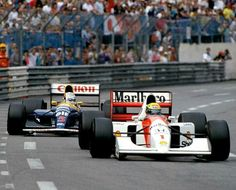 #1 Ayrton Senna...Honda Marlboro McLaren...McLaren MP4/7A...Motor Honda RA122E V12 3.5...#5 Nigel Mansell...Canon Williams Team...Williams FW14B...Motor Renault RS3C V10 3.5...GP Monaco 1992