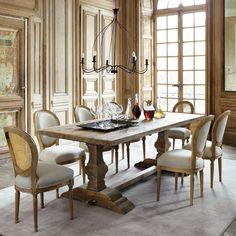 Table de salle à manger en bois effet vieilli L 220 cm Lourmarin | Maisons du Monde 1699.90 chf