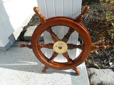 Nautical 18 Inch Wooden Ships Wheel Decor By Alamocrafter
