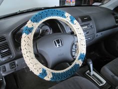 Hey, I found this really awesome Etsy listing at https://www.etsy.com/listing/173938494/crochet-steering-wheel-cover-wheel-cozy